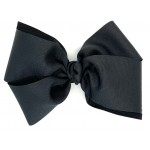 Black Grosgrain Bow - 6 Inch