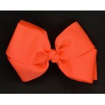 Orange (Neon Orange) Grosgrain Bow - 6 Inch