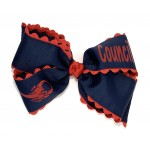 Council Navy (Red Ric-Rac) Bow - 7 Inch