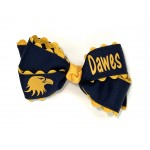 Dawes Navy (Yellow-Gold Ric-Rac) Bow - 5 Inch