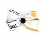 Dawes White (Navy-Yellow Gold Pico) Bow - 5 Inch