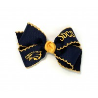 St. Dominic's (Navy) / Yellow Gold Pico Stitch Bow - 4 Inch