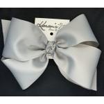 Gray Grosgrain Bow - 8 Inch