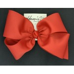 Red Grosgrain Bow - 8 Inch