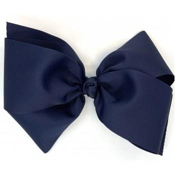 Blue (Dark Navy) Grosgrain Bow - 8 Inch