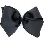 Black Grosgrain Bow - 8 Inch