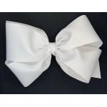White Grosgrain Bow - 8 Inch